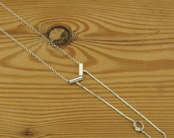 Knotted chain pendant in sterling silver box chain