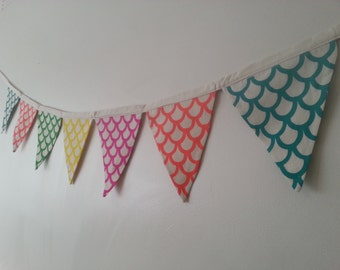 Our Flag Garlands are made from Handprinted textiles,