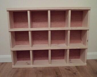 Handmade Wooden Pigeon Hole Storage Unit Cubby Hole Shelf