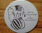 Circus cruelty pin
