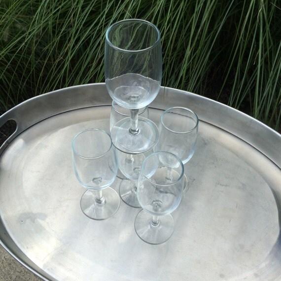 Vintage Stemware Cordial / Shot / Desert Wine Glasses Shaped