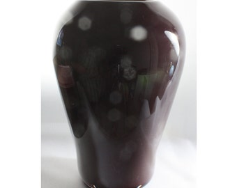 Brown Vase, Hand Blown Opaque Glass Vase - Free Shipping