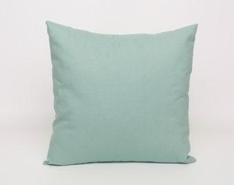 Blue Pillow Covers Blue Cushion Cover Blue Throw Pillow Cover 16x16 Village Blue Pillow Sham