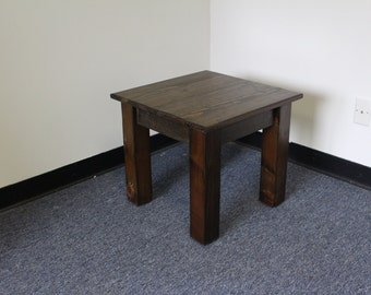 Side Table / Rustic End Table / Night Stand