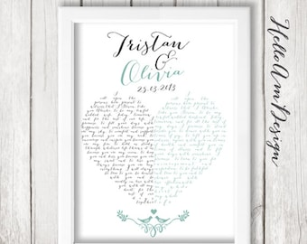 Our Wedding Vows 1st Paper Anniversary Custom
