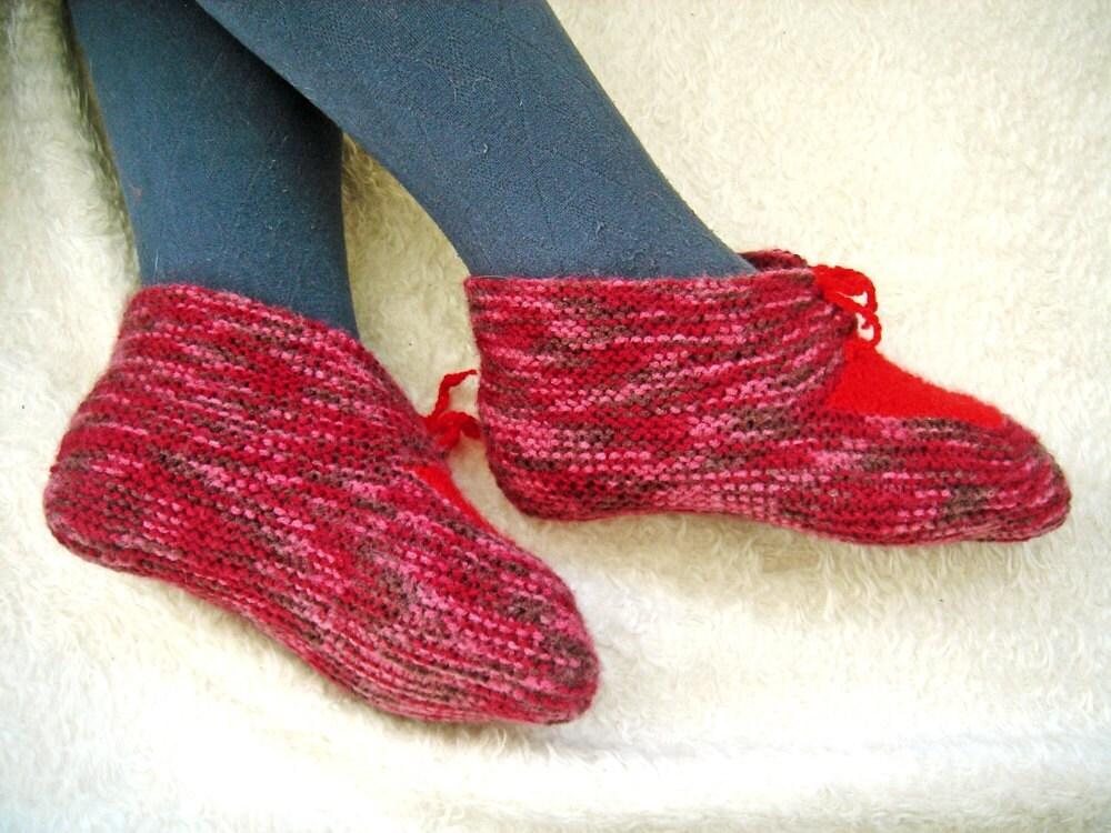 Knit Women Slippers Ruby Slippers Wool Slipper Socks