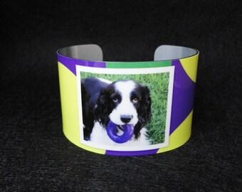 PET Photo Cuff Bracelet - Bangle - Custom - Dog - Cat - Grandchildren - Sister - Teacher - Best Friend - Mother