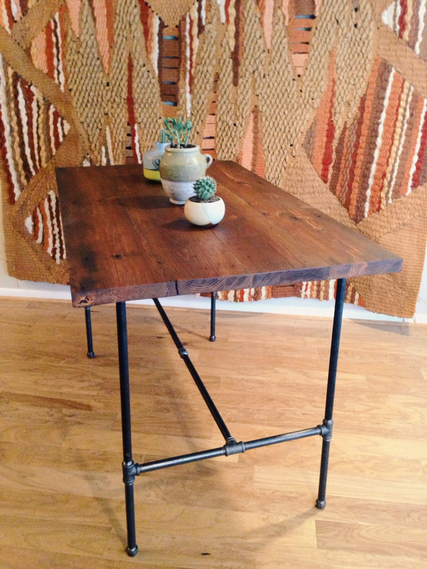 Bar Height Reclaimed Wood Dining Table