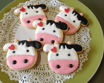 24 Moo Moo Dairy  cow have you any milk, iced cookies platter.