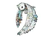 Great owl temporary tattoo by Joshua T. Pearson (USA)