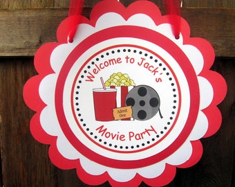 Movie Party Sign