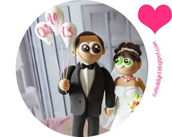 Wedding Cake Topper - CUSTOM wedding cake topper, FUNNY cake topper,baloons cake topper, wedding toppers,cake toppers wedding,