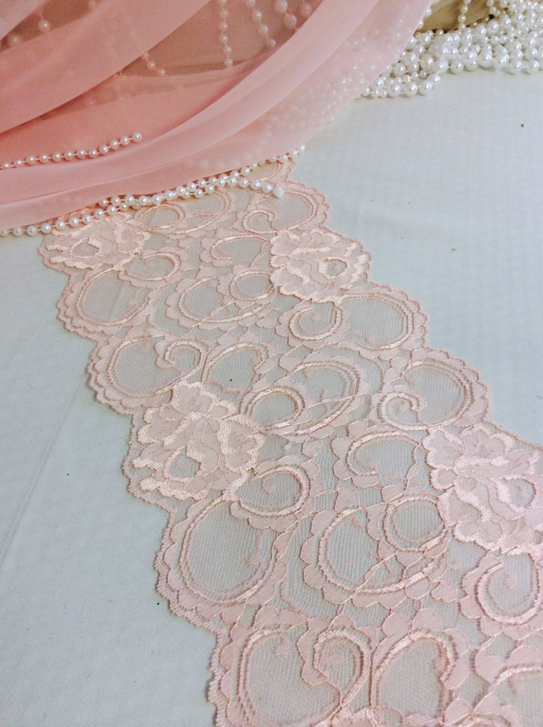 Buy 5 Get 1 Fre 6ft Pink Lace Table Runner Wedding Table