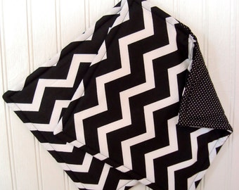Black and White Chevron Potholders, Set of 2 Handmade Black Chevron Potholders, Chevron Kitchen Decor, Fabric Pot Holders, Chevron Hot Pads