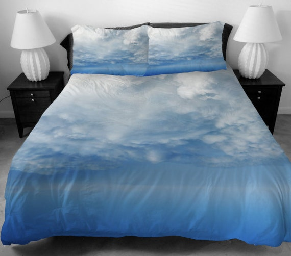 Blue With White Cloud Bed Sheet