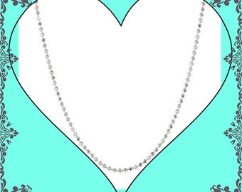"""30"""" Stainless Faceted Bead Chain for your NoveLocket Glass Memory Locket"""