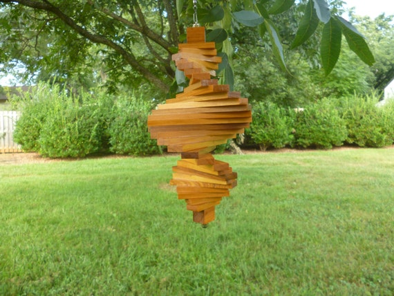 Old Growth Heart Cypress Wind Spinner Woodenhelix