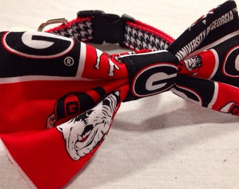 Georgia Bulldogs Collar Bow/Bowtie - Does not include collar