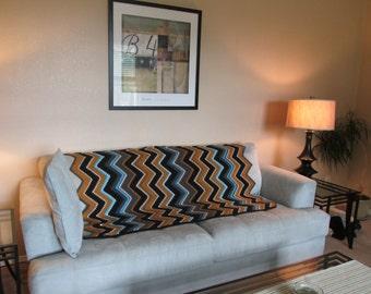 Crochet Afghan - Navajo Blanket