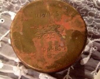 Maxim's Paris WC Brass Box Signed Lowell Sigmund France