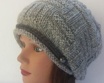 Beanie Hat, Knit Hat, Chunky Beanie, Slouchy Beanie, Winter Hat, Ski Hat, Women Hat
