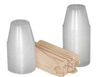 Jewelry Resin Mixing Cups and Sticks Art Mechanique Essentials 50 Cups and Sticks