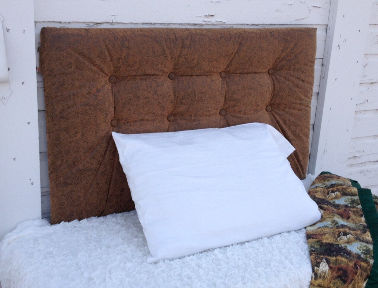 Tufted Headboard Leather by BedheadDesigns on Etsy