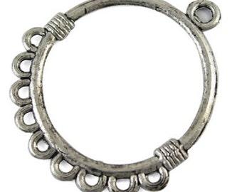 5 x Antique Silver Chandelier Earring Hook Findings  - Earring Hoops TS297