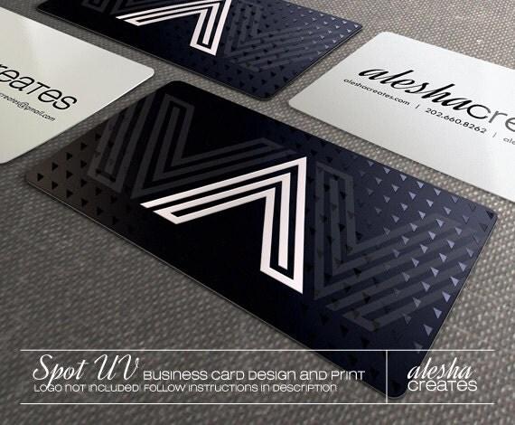 500 Silk Laminated Business Cards Spot UV Coated Design