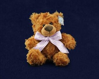Purple Ribbon Teddy Bear ( RE-TBEAR-4)