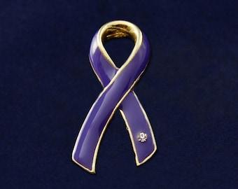 Large Violet Ribbon Pin (RE-P-04-27)
