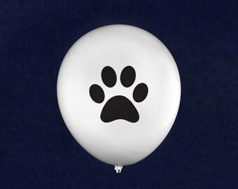 Black Paw Print Balloons (50 Balloons) (BAL-PB)
