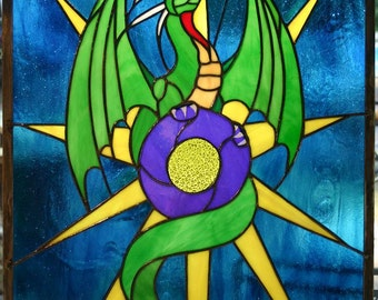 Stained Glass Panel - Dragonstar