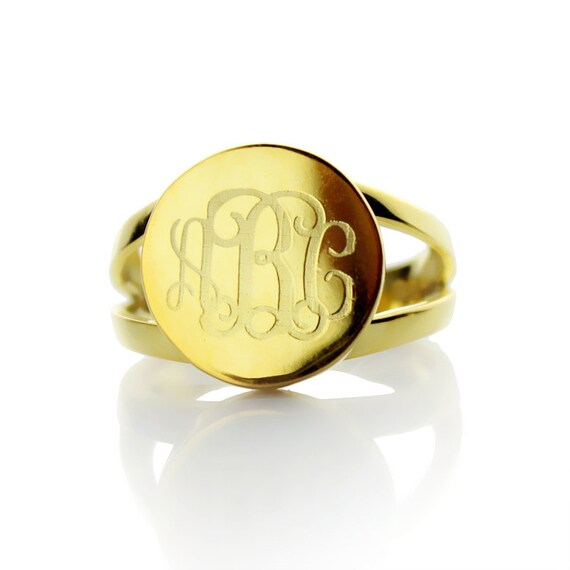 engraved monogrammed ring by themonogramnecklace on