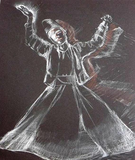 Dervish Dance Drawing Dancing Dervish Original