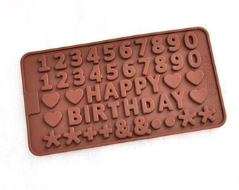 Arabic Numerals Mold Cake Mold Mould Silicone Mold Biscuit Mold Chocolate Mold Soap Mold