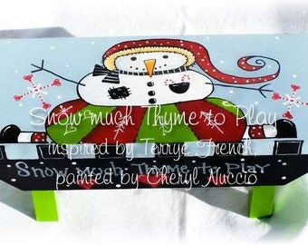 Snow much time to play by Cheryl Nuccio.  new pattern packet email