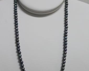 Dark Potato Freshwater Pearl Necklace NK14