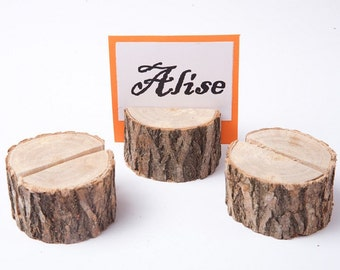 20 Wood Place Card Holders, Wedding Table Decor Guest Card Holders, Rustic wedding table number holder, woodland wedding decor