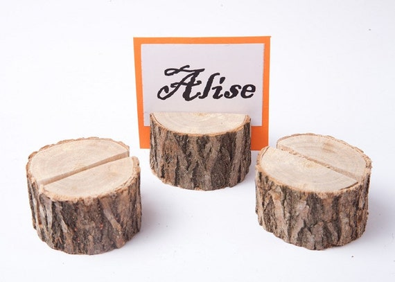 30 Wood Place Card Holders Wedding Table Decor Guest