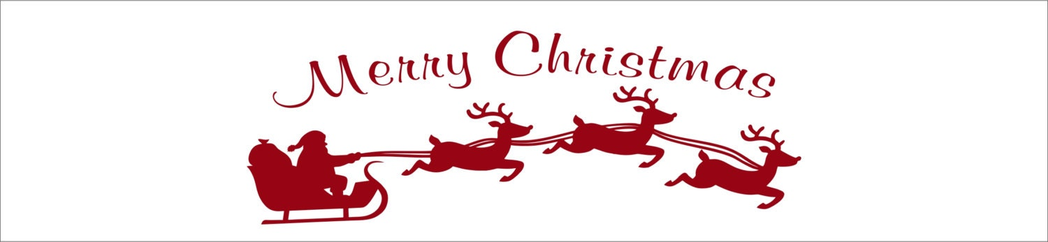 Christmas Decal With Santa S Sleigh Vinyl By