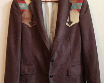 vintage men's southwestern aztec blazer southwestern aztec jacket wedding blazer