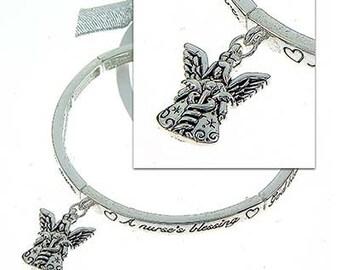 INSPIRATIONAL Nurse's Blessing  Bracelet-with Angel Charm
