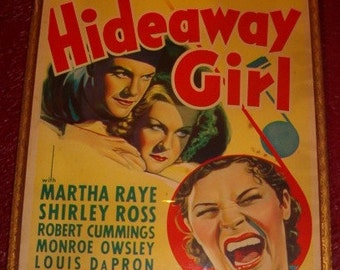Paramount Picture Movie Poster Hideaway Girl Circa 1936