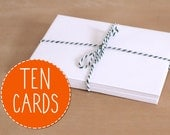 Ten (10) Cards Same Design. 100% Percent Recycled Paper