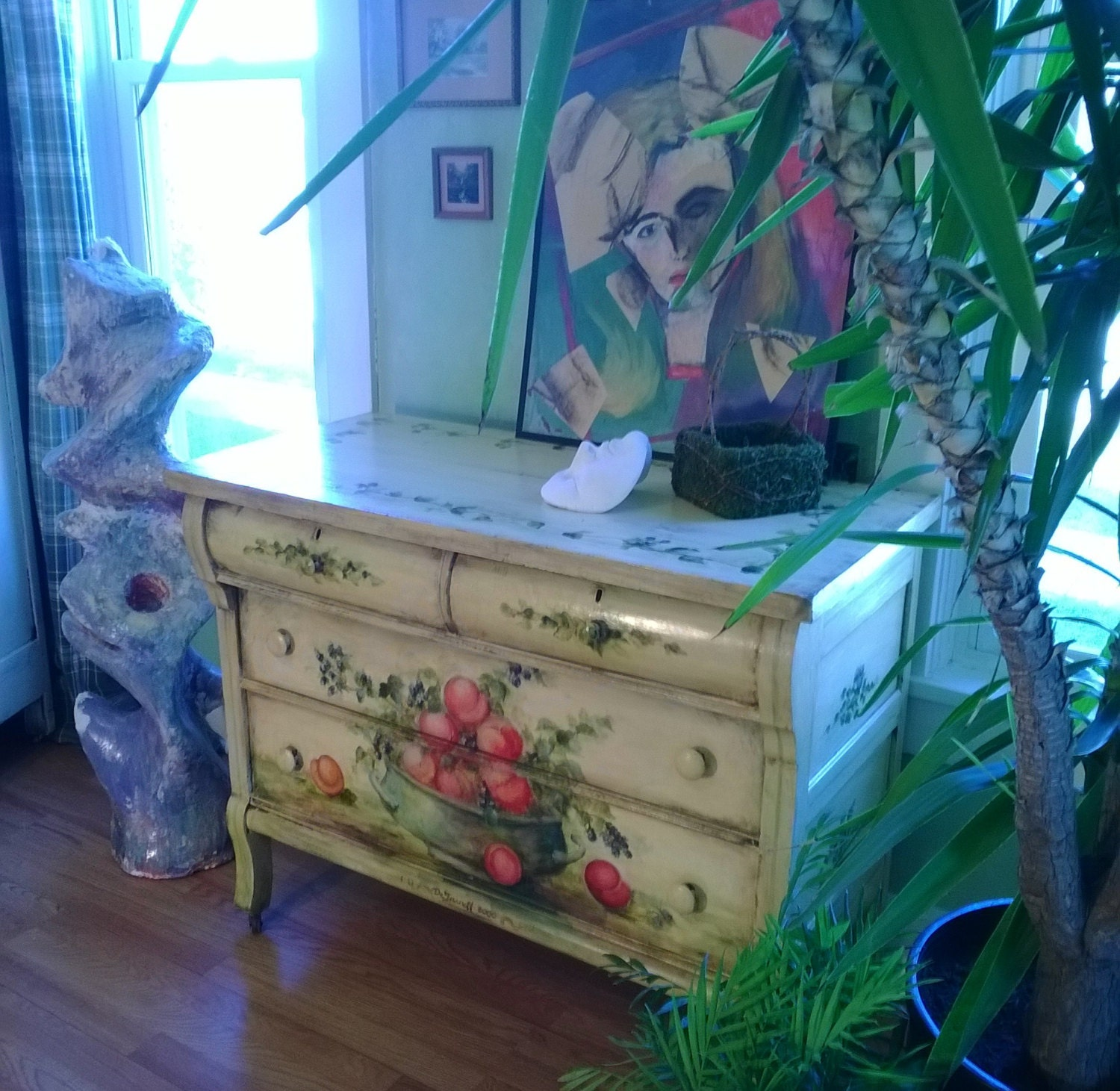 Painted Dresser Furniture Art Whimsical Funky