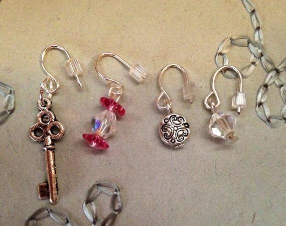 4 delicate post cartilage earrings single by sotelostones