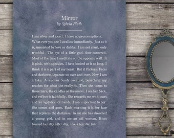 Popular items for sylvia plath mirror on etsy for Mirror sylvia plath