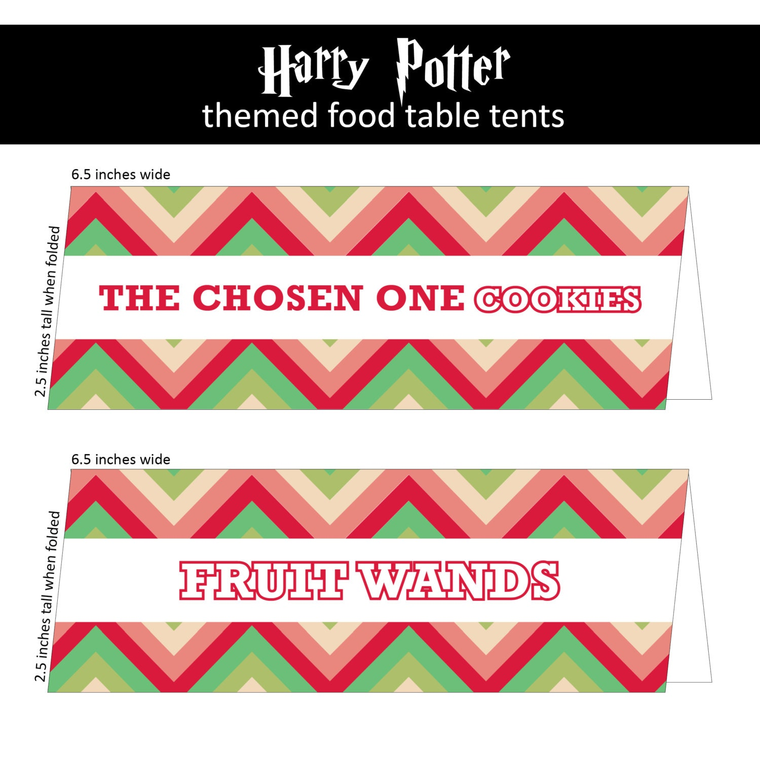 Harry Potter Party Food Labels from by kaBOOMcommunications