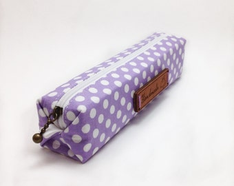 Pencil Case. Pencil Pouch. Pencil Holder. Purple Pencil Case. Fabric Pencil Case. Zipper Case. Boxy Case. Slim Pencil Case. Brush Holder.